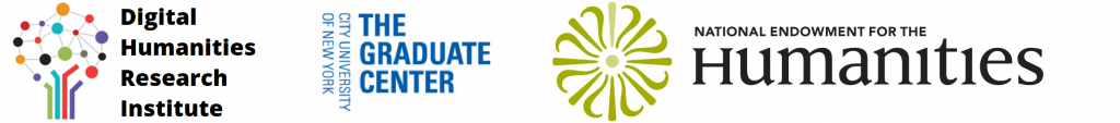 DHRI NEH and CUNY GC logos