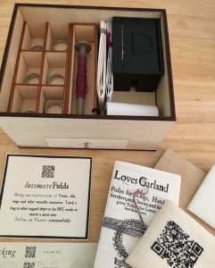 Contents of Intimate Fields box, documents and materials