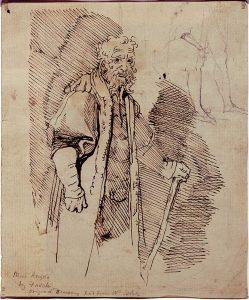 William Blake drawing of man